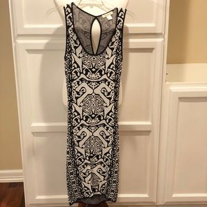 Gorgeous Arden B black and white fitted dress